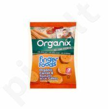 Ekologiški ryžių trapučiai su morkomis ir pomidorais kūdikiams nuo 7 mėn. ORGANIX, 50 g