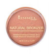 Rimmel London Natural Bronzer, bronzantas moterims, 14g, (025 Sun Glow)