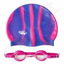 Plaukimo rinkinys  ZEBRA SPURT SET 1100 AF 14 PINK + MI 7
