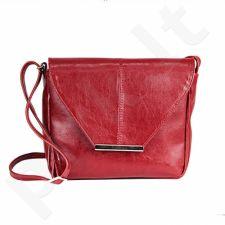 DAN-A T231 raudona rankinė iš natūralios odos