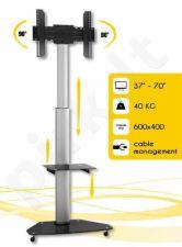 Techly Mobilus stovas skirtas TV LCD/LED/Plasma 37''-70'' VESA, pivot, regulioj.