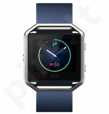 Fitbit Blaze, Blue, Silver, Large