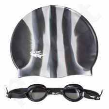 Plaukimo rinkinys  ZEBRA SPURT SET 1100 AF 11 BLACK + MI 2