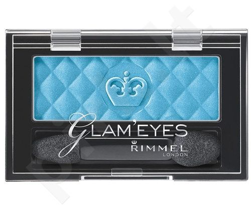 Rimmel London Glam Eyes Mono akių šešėliai, kosmetika moterims, 2,4g, (410 Plum Romance)