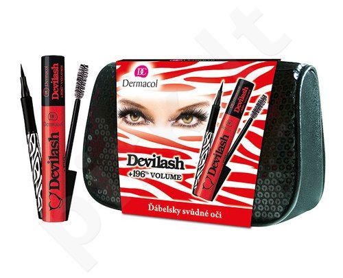 Dermacol Devilash blakstienų tušas Kit 7035 rinkinys moterims, (12ml Devilash blakstienų tušas + 1ml Precise Black) , (Black)