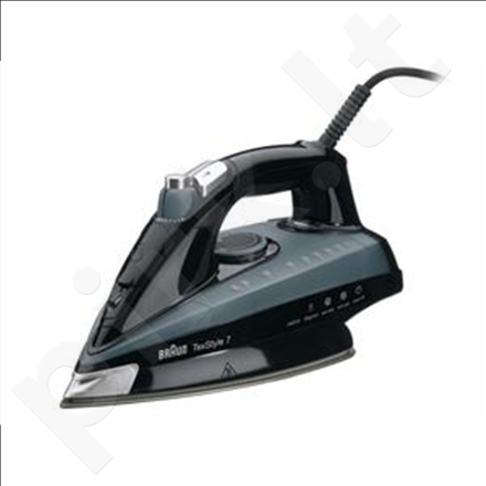 Braun TS 745 TexStyle 7 Steam Iron, Eloxal sole plate, Auto-off, 2400W, Black