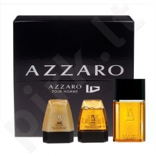 Azzaro Pour Homme rinkinys vyrams, (EDT 100ml + 75ml dušo želė + 75ml losjonas po skutimosi)