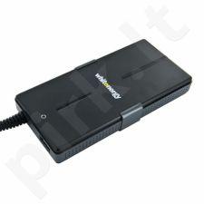 Universalus maitinimo šaltinis Whitenergy 90W, 8 antgalių, USB, Super Slim