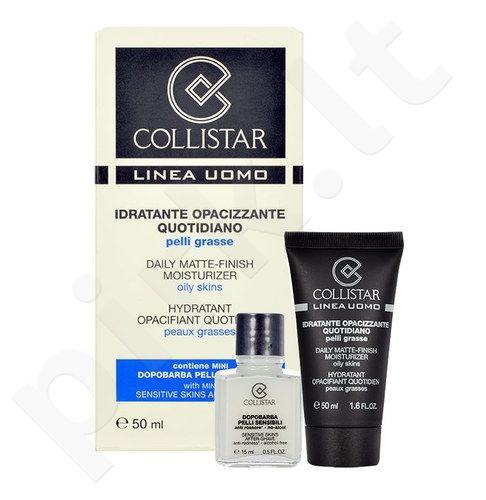 Collistar Men Daily Matte-Finish Moisturizer rinkinys vyrams, (50 ml Anti-Wrinkle kremas + 15 ml After-Shave Sensitive Skin)