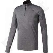 Marškinėliai bėgimui  adidas Response 1/2 Zip Long Sleeve Tee M B47699