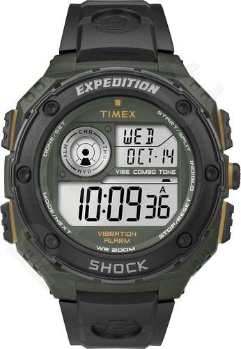 Laikrodis TIMEX EXPEDITION- WR:20ATM- INDIGLO- 3 TIMES ZONES