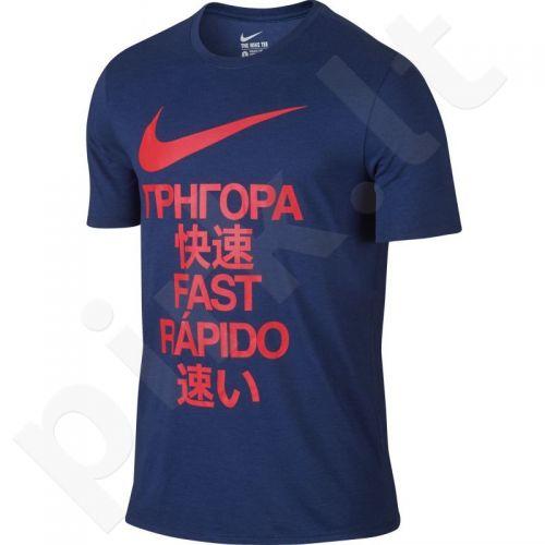 Marškinėliai bėgimui  Nike Running T-shirt Fast Tee M 804410-455