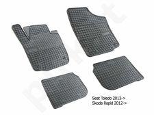 Guminiai  kilimėliai Seat Toledo IV 2013-> /4pc, 0364