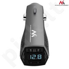 Maclean MCE126 Car charger USBx2 LCD screen