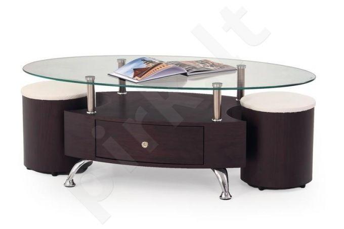 Ovalus kavos staliukas su pufais STELLA