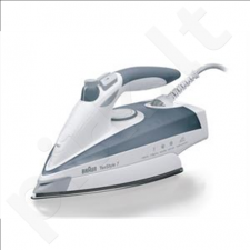 Braun TS 775TP TexStyle 7 Steam Iron, Saphir sole plate, 2400W, White/Grey