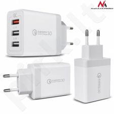 Maclean MCE209 Charger 3xUSB Universalus 1x QC 3.0 2x 2.4A white