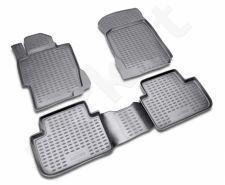 Guminiai kilimėliai 3D HONDA Accord 2008-2013, 4 pcs. /L28011G /gray