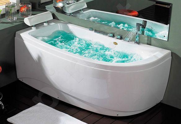 Masažinė vonia B1680 kairinė su oro ir hidromasažu 150cm