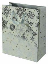 Dovanų maišelis Premium Glowing Stars Silver Medium
