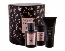 Acqua di Parma Quercia, Colonia, rinkinys Eau de odekolonas vyrams, (Eau de Cologne 100 ml + žvakė 75 ml)