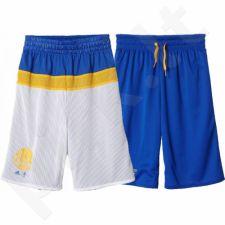 Šortai krepšiniui dvipusiai Adidas NBA Golden State Warriors Junior AX7832