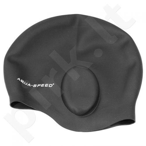 Maudymosi kepuraitė  Aqua-Speed Ear Cup 07 juodas