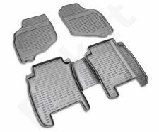 Guminiai kilimėliai 3D HONDA Jazz 2001-2008, 4 pcs. /L28029G /gray