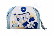 Nivea Care & Orange, rinkinys dušo želė moterims, (dušo želė 250 ml + Firming kūno losjonas Q10 400 ml + Antiperspirant Roll-on Stress Protect 50 ml + kosmetika krepšys)