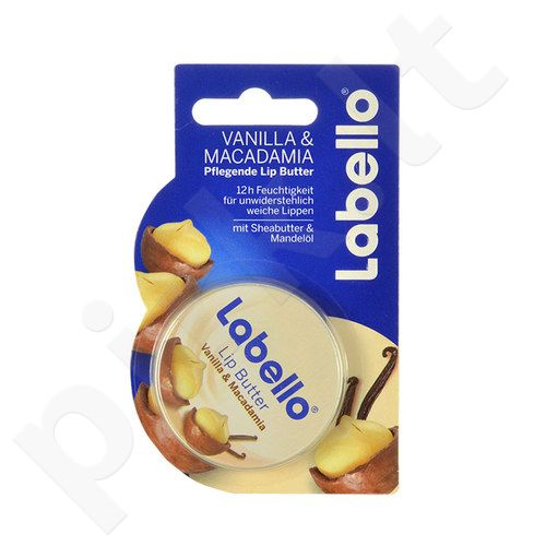Labello lūpų sviestas Vanilla & Macadamia, kosmetika moterims ir vyrams, 19ml