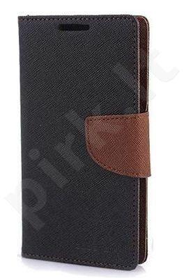 Samsung Galaxy Ace 4 dėklas FANCY Mercury juodas/rudas
