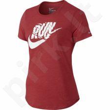 Marškinėliai bėgimui  Nike Run P Orgametric Swoosh TEE W 776636-672