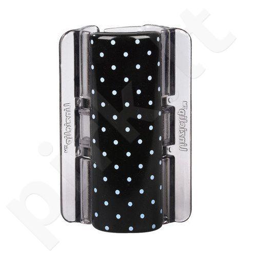 Linziclip Maxi Hair Clip, kosmetika moterims, 1vnt, (Black With White Polka Dots)