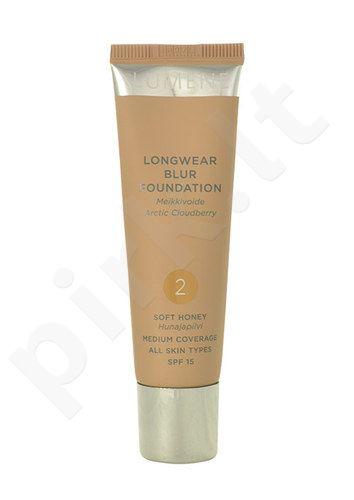 Lumene Longwear Blur kreminė pudra SPF15, kosmetika moterims, 30ml, (3 Fresh Apricot)