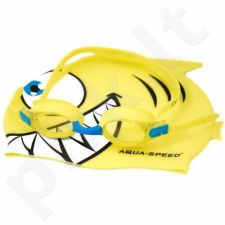 Plaukimo rinkinys Aqua-Speed Set Fish Junior 1182 geltonas