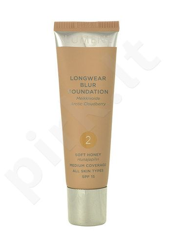 Lumene Longwear Blur Foundation SPF15, kosmetika moterims, 30ml, (2 Soft Honey)