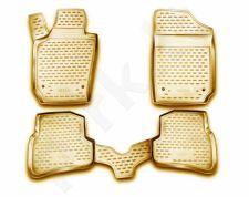 Guminiai kilimėliai 3D SEAT Ibiza 2008-> , wg, 4 pcs. /L55003B /beige