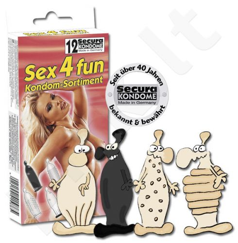 Prezervatyvai Sex4fun - 12 vnt.