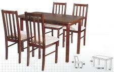 Stalas MAX IV + 4 kėdės BOSS X