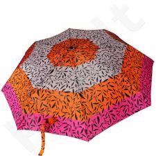 DOPPLER PA49 skėtis pusiau automatinis rožinio-oranžinio-pilko atspalvio