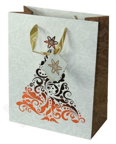 Dovanų maišelis Premium Christmas Tree Copper Medium