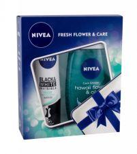 Nivea Hawaii Flower & Oil, rinkinys dušo želė moterims, (dušo želė 250 ml + Antiperspirant Invisible Black & White Fresh 150 ml)