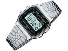 Casio Retro Collection A158WA-1DF vyriškas laikrodis-chronometras