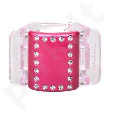 Linziclip Midi Hair Clip, kosmetika moterims, 1vnt, (Pink Pearl Crystal)