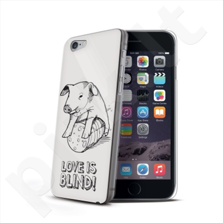 Celly Cover LOVE IS BLIND for Apple iPhone 6 (Pig) / Hard cover with transparent edges