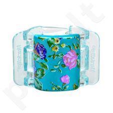 Linziclip Midi Hair Clip, kosmetika moterims, 1vnt, (Turquoise Pearl Flowers)