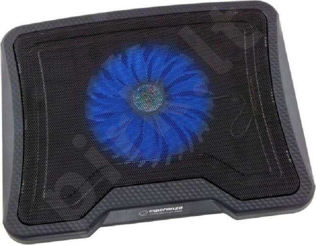 Aušinimo stovas Esperanza LESTE Neš. kompiuteriui 15,4'' - 15,6'', 1 ventiliat.