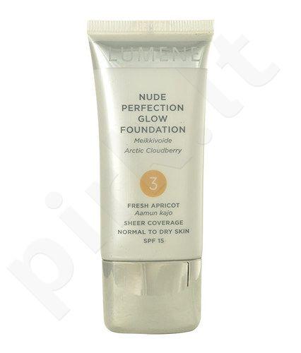 Lumene Nude Perfection Glow kreminė pudra SPF15, kosmetika moterims, 30ml, (1 Classic Beige)