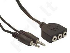Gembird kabelis audio 2x JACK 3.5mm M/3x JACK 3.5mm F 1,8M