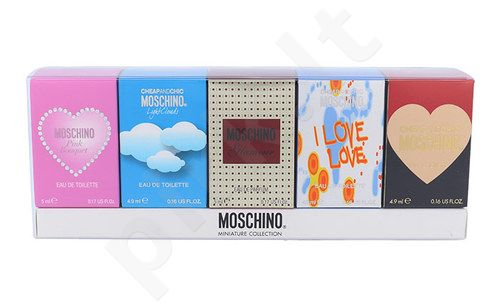 Moschino Mini Set rinkinys moterims, (4,9ml EDT I Love Love + 4,9ml EDT Cheap and Chic  + 4,9ml EDT Light Clouds + 5ml EDP Glamour + 5ml Pink Bouquet)